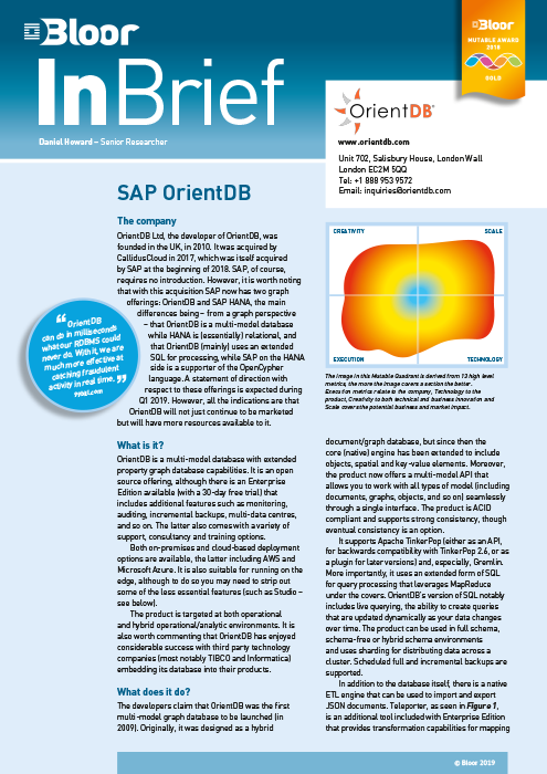 SAP OrientDB