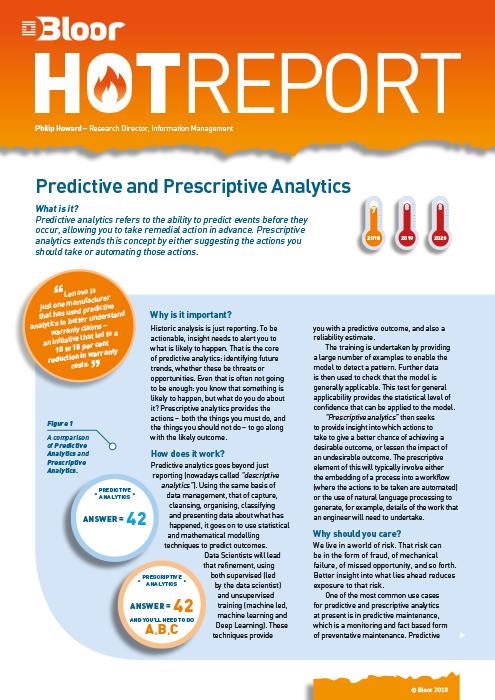 Predictive and Prescriptive